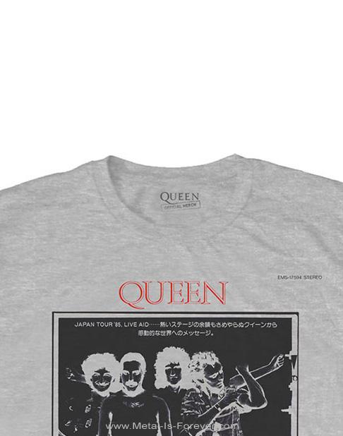 QUEEN (クイーン) ONE VISION 「ひとつだけの世界」 Tシャツ(グレー)