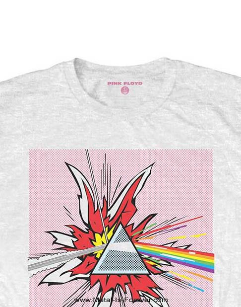 PINK FLOYD (ピンク・フロイド) THE DARK SIDE OF THE MOON 「狂気」 リキテンスタイン・プリズム Tシャツ(白)