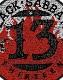 BLACK SABBATH (ブラック・サバス) 13 「サーティーン」 ロゴ ワッペン