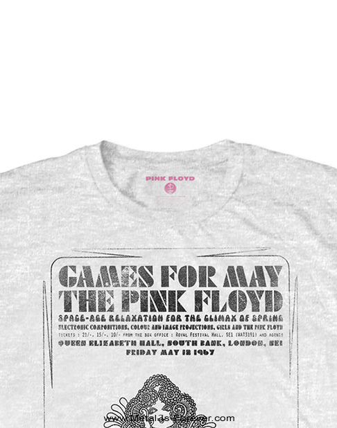 PINK FLOYD (ピンク・フロイド) GAMES FOR MAY 「ゲームス・フォー・メイ」 Tシャツ(白)
