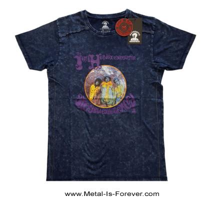 JIMI HENDRIX (ジミ・ヘンドリックス) ARE YOU EXPERIENCED 「アー・ユー・エクスペリエンスト?」 スノーウォッシュ Tシャツ(ネイビー・ブルー)