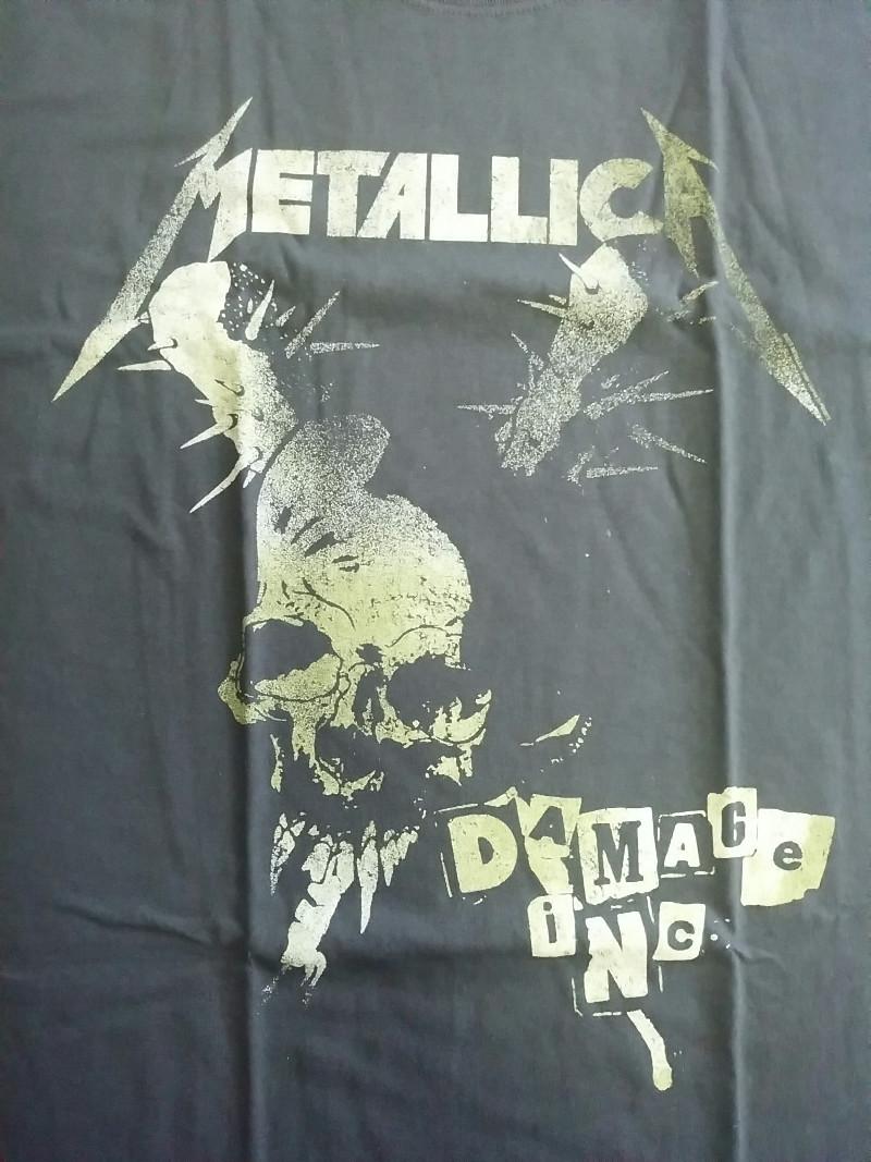 【在庫有り商品】METALLICA -メタリカ- DAMAGE, INC.「ダメージ・インク」  Tシャツ XLサイズ