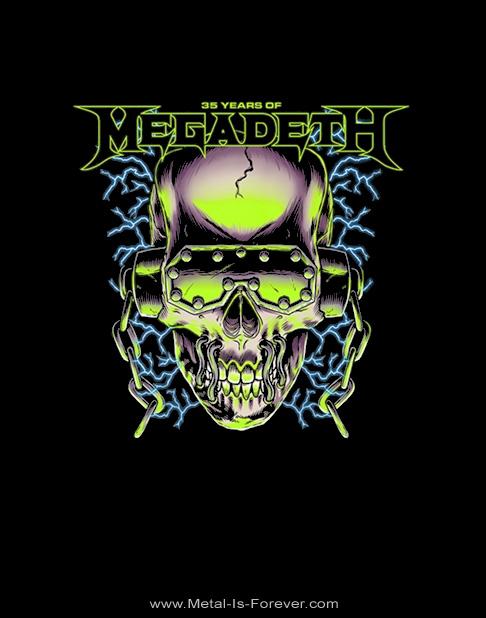 MEGADETH -メガデス- 35 YEARS VIC RATTLEHEAD 「35イヤーズ・ヴィック・ラトルヘッド」 Tシャツ