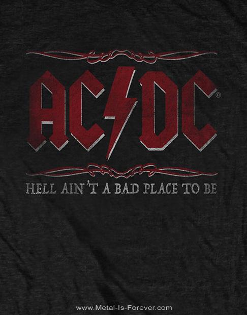 AC/DC -エーシー・ディーシー- HELL AIN'T A BAD PLACE TO BE 「地獄は楽しい所だぜ」 Tシャツ