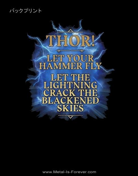AMON AMARTH -アモン・アマース- THOR CRACK THE SKY 「トール・クラック・ザ・スカイ」  Tシャツ