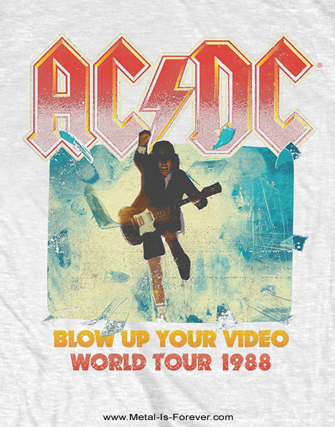 AC/DC -エーシー・ディーシー- BLOW UP YOUR VIDEO 「ブロウ・アップ・ユア・ビデオ」 Tシャツ(白)
