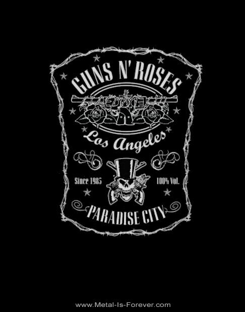 GUNS N' ROSES -ガンズ・アンド・ローゼズ- PARADISE CITY LABEL 「パラダイス・シティ・ラベル」 Tシャツ