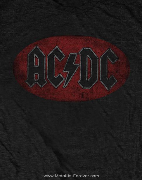AC/DC -エーシー・ディーシー- OVAL LOGO VINTAGE 「オーバル・ロゴ・ヴィンテージ」 Tシャツ
