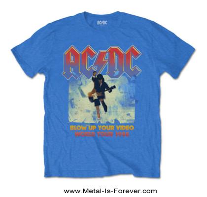 AC/DC -エーシー・ディーシー- BLOW UP YOUR VIDEO 「ブロウ・アップ・ユア・ビデオ」 Tシャツ(ミッド・ブルー)