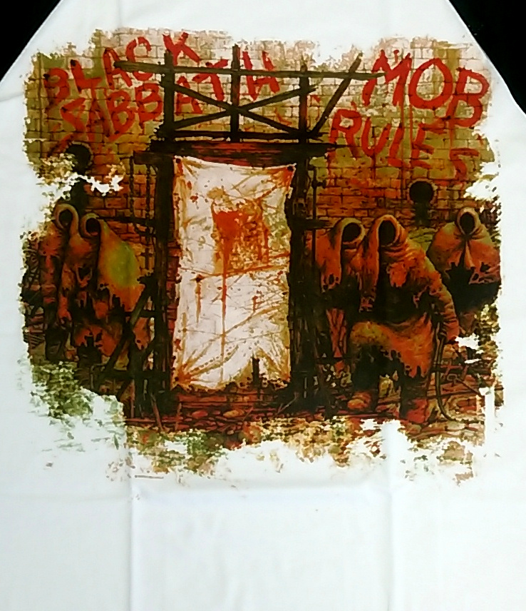 【在庫有り商品】BLACK SABBATH -ブラック・サバス- MOB RULES 「悪魔の掟」 ラグラン長袖Tシャツ Lサイズ