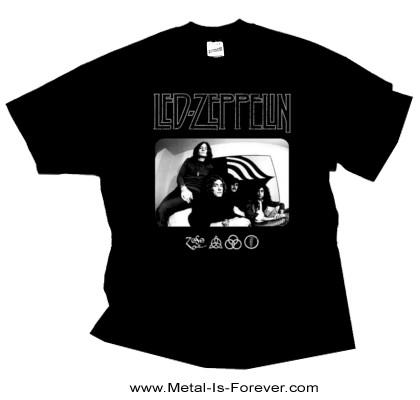 LED ZEPPELIN (レッド・ツェッペリン) ICON LOGO PHOTO 「アイコン・ロゴ・フォト」 Tシャツ