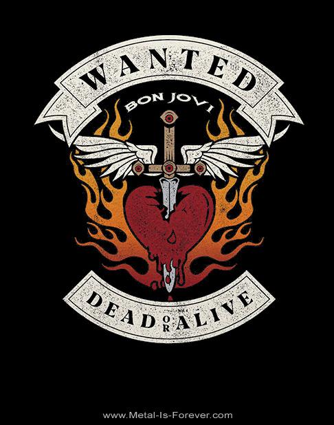 BON JOVI (ボン・ジョヴィ) WANTED DEAD OR ALIVE 「ウォンテッド・デッド・オア・アライヴ」 Tシャツ
