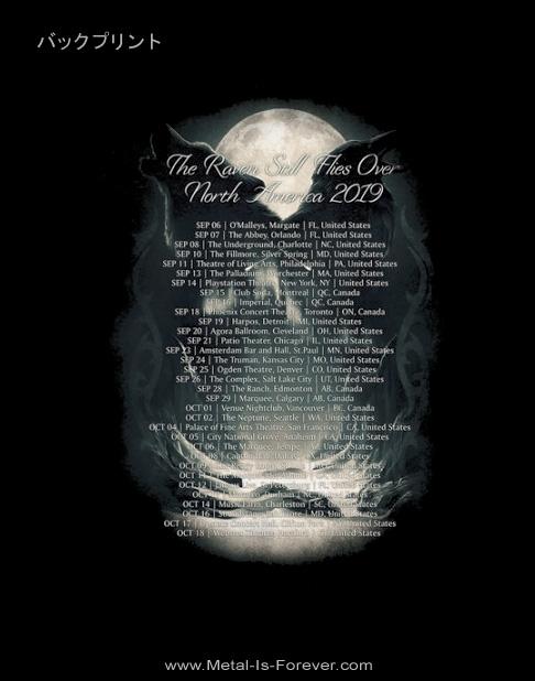 SONATA ARCTICA -ソナタ・アークティカ- RAVEN STILL LIES 「レイヴン・スティル・ライズ」 2019年北米ツアー Tシャツ