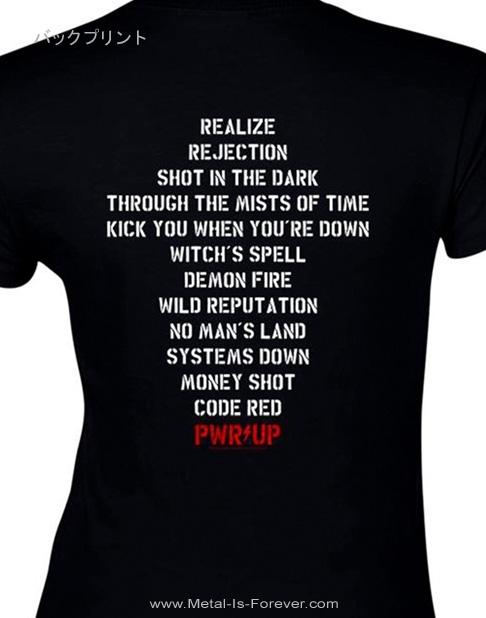 AC/DC (エーシー・ディーシー) POWER UP 「パワーアップ」 トラックリスト レディースTシャツ