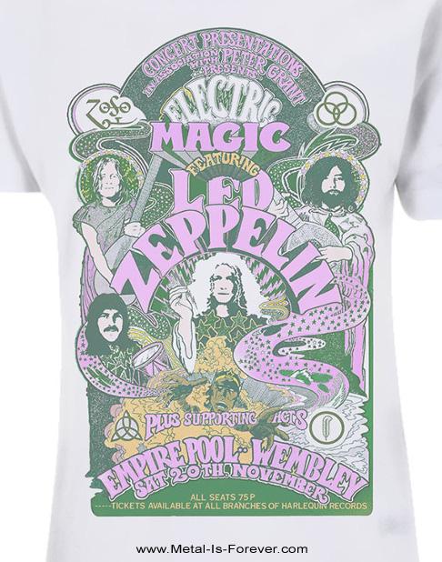 LED ZEPPELIN (レッド・ツェッペリン) ELECTRIC MAGIC SHOW 「エレクトリック・マジック・ショウ」 Tシャツ(白)