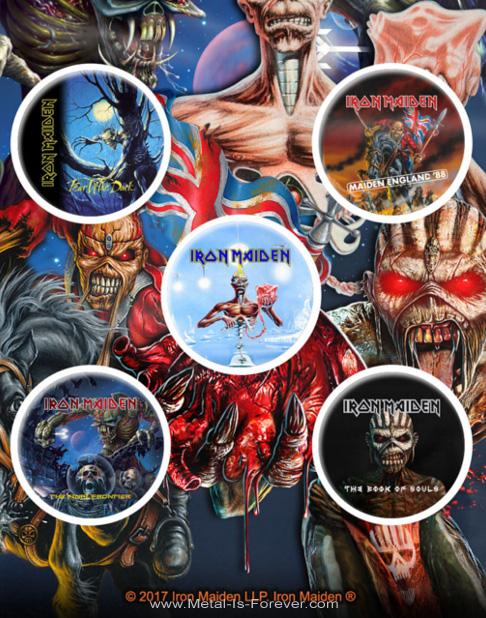 IRON MAIDEN -アイアン・メイデン- LATER ALBUMS 「レイター・アルバム」 バッジセット