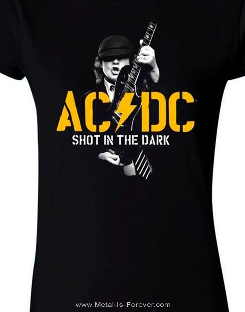 AC/DC (エーシー・ディーシー) SHOT IN THE DARK 「ショット・イン・ザ・ダーク」 PWR レディースTシャツ