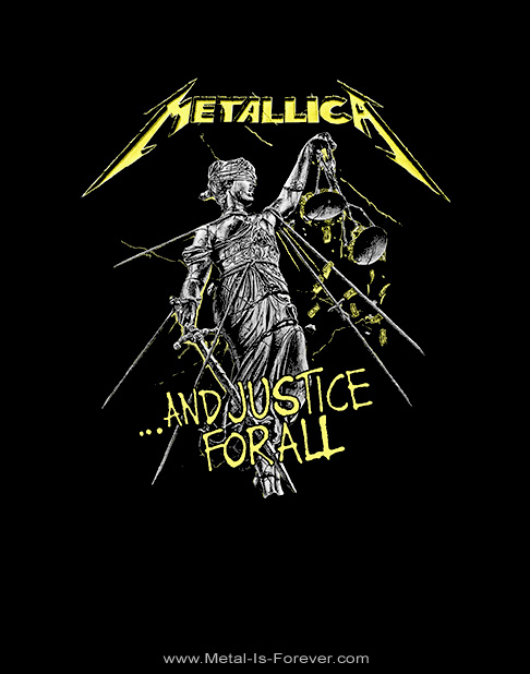 METALLICA -メタリカ- ...AND JUSTICE FOR ALL 「メタル・ジャスティス」 トラック Tシャツ