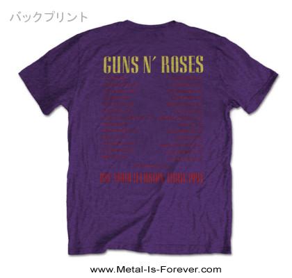 GUNS N' ROSES (ガンズ・アンド・ローゼズ) CIVIL WAR 「シヴィル・ウォー」 ツアー Tシャツ(紫)