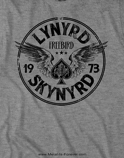 LYNYRD SKYNYRD (レーナード・スキナード) FREE BIRD '73 WINGS 「フリー・バード・'73・ウイング」 Tシャツ(グレー)