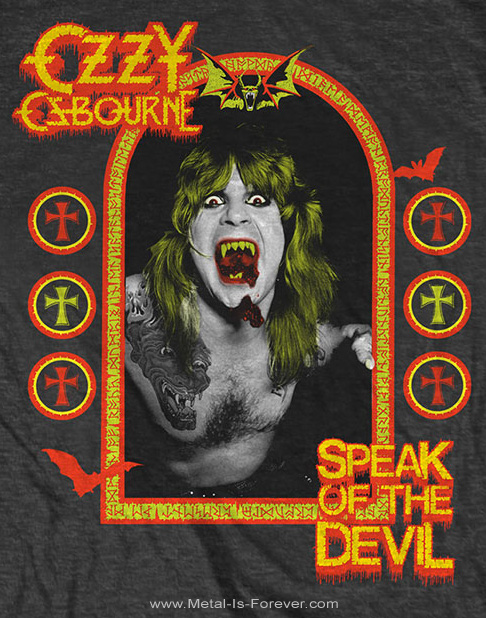 OZZY OSBOURNE -オジー・オズボーン- SPEAK OF THE DEVIL 「悪魔の囁き」 Tシャツ ver.2