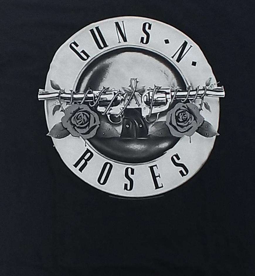 【在庫有り商品】GUNS N' ROSES -ガンズ・アンド・ローゼズ- BULLET LOGO 「ブレット・ロゴ」 レディース サッカーTシャツ Sサイズ