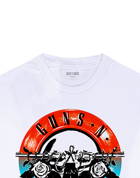 GUNS N' ROSES -ガンズ・アンド・ローゼズ- MOTORCROSS LOGO 「モータークロス・ロゴ」 長袖Tシャツ(白)