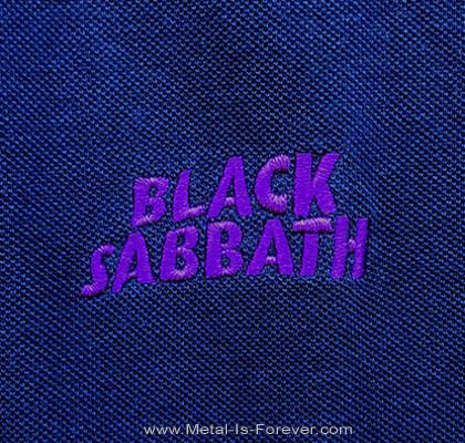 BLACK SABBATH (ブラック・サバス) WAVY LOGO 「ウェービー・ロゴ」 ポロシャツ(ネイビーブルー)
