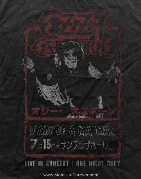 OZZY OSBOURNE -オジー・オズボーン- DIARY OF A MADMAN 「ダイアリー・オブ・ア・マッドマン」 ジャパン・ツアー Tシャツ