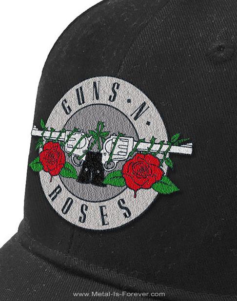 GUNS N' ROSES -ガンズ・アンド・ローゼズ- SILVER CIRCLE LOGO 「シルバー・サークル・ロゴ」 ベースボールキャップ