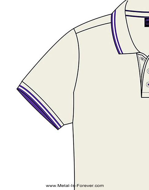 BLACK SABBATH (ブラック・サバス) WAVY LOGO 「ウェービー・ロゴ」 ポロシャツ(ナチュラル・カラー)