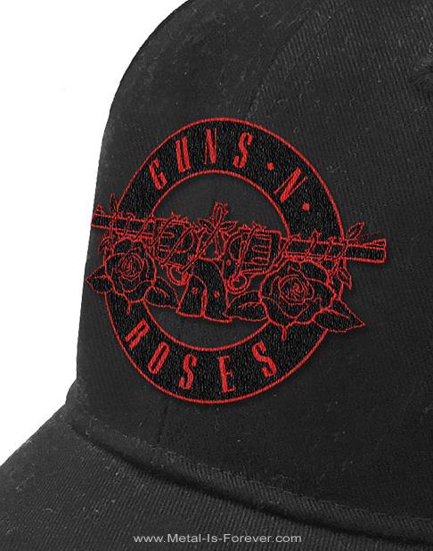 GUNS N' ROSES -ガンズ・アンド・ローゼズ- RED CIRCLE LOGO 「レッド・サークル・ロゴ」 ベースボールキャップ