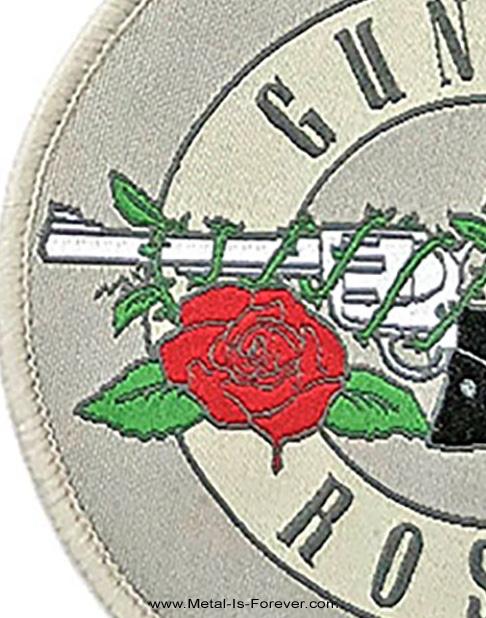 GUNS N' ROSES (ガンズ・アンド・ローゼズ) SILVER CIRCLE LOGO 「シルバー・サークル・ロゴ」 ワッペン