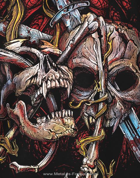 SIX FEET UNDER (シックス・フィート・アンダー) KNIFE THROUGH THE SKULL 「ナイフ・スルー・ザ・スカル」 Tシャツ