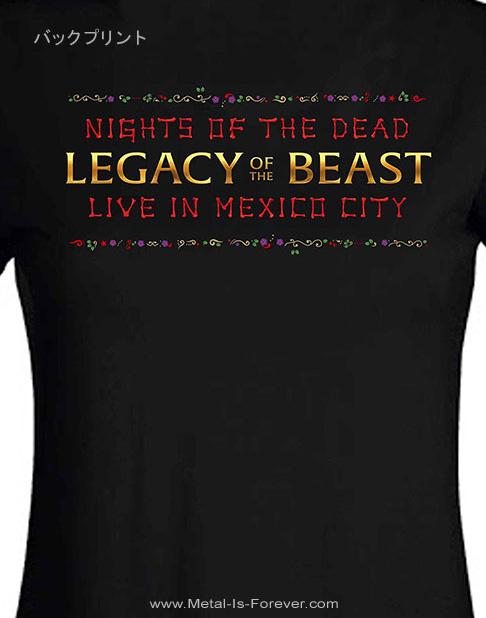 IRON MAIDEN (アイアン・メイデン) NIGHTS OF THE DEAD LEGACY OF THE BEAST: LIVE IN MEXICO CITY 「ナイツ・オブ・ザ・デッド、レガシー・オブ・ザ・ビースト:ライヴ・イン・メキシコシティ」 スカル レディースTシャツ