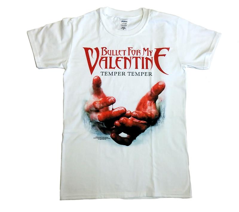 【在庫有り商品】BULLET FOR MY VALENTINE -ブレット・フォー・マイ・ヴァレンタイン- TEMPER TEMPER 「テンパー・テンパー」 Tシャツ(白) Sサイズ