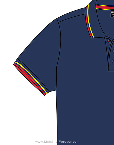 GUNS N' ROSES (ガンズ・アンド・ローゼズ) CLASSIC LOGO 「クラシック・ロゴ」 ポロシャツ(ネイビーブルー)
