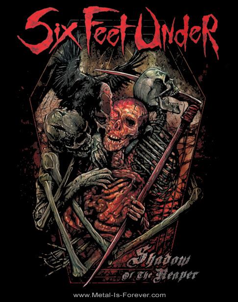 SIX FEET UNDER (シックス・フィート・アンダー) SHADOW OF THE REAPER 「シャドウ・オブ・ザ・リパー」 Tシャツ