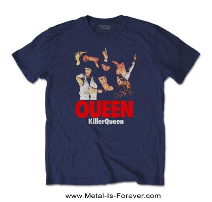 QUEEN (クイーン) KILLER QUEEN 「キラー・クイーン」 Tシャツ(ネイビー・ブルー)