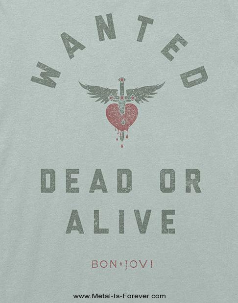 BON JOVI (ボン・ジョヴィ) WANTED DEAD OR ALIVE 「ウォンテッド・デッド・オア・アライヴ」 Tシャツ(緑)