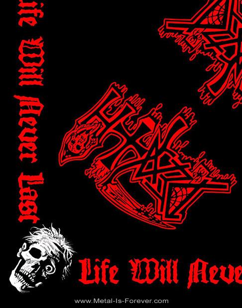 DEATH (デス) LIFE WILL NEVER LAST 「ライフ・ウィル・ネヴァー・ラスト」 バンダナ