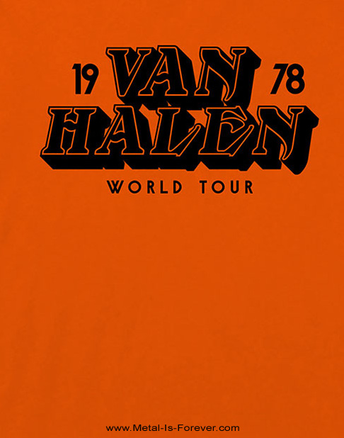 VAN HALEN -ヴァン・ヘイレン- WORLD TOUR '78  「1978年・ワールド・ツアー」 Tシャツ