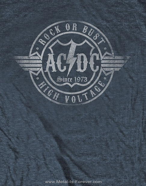 AC/DC (エーシー・ディーシー) ROCK OR BUST 「ロック・オア・バスト」 Tシャツ(ヘザー・グレー)