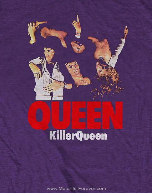 QUEEN (クイーン) KILLER QUEEN 「キラー・クイーン」 Tシャツ(紫)