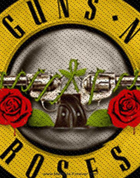 GUNS N' ROSES (ガンズ・アンド・ローゼズ) BULLET LOGO 「ブレット・ロゴ」 ワッペン