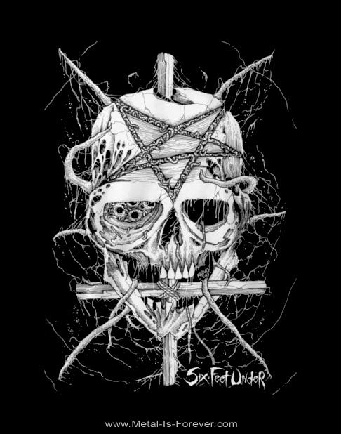 SIX FEET UNDER (シックス・フィート・アンダー) PENTA SKULL 「ペンタ・スカル」 Tシャツ
