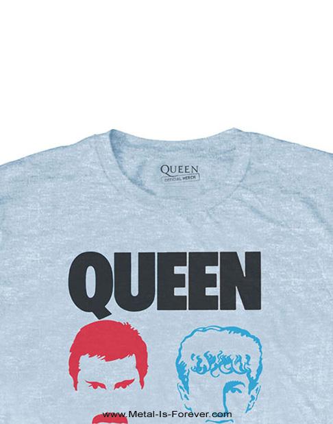 QUEEN (クイーン) HOT SPACE 「ホット・スペース」 Tシャツ(ライト・ブルー)