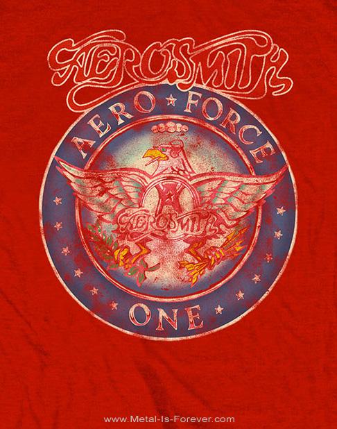 AEROSMITH (エアロスミス) AERO FORCE ONE 「エアロ・フォース・ワン」 Tシャツ(赤)