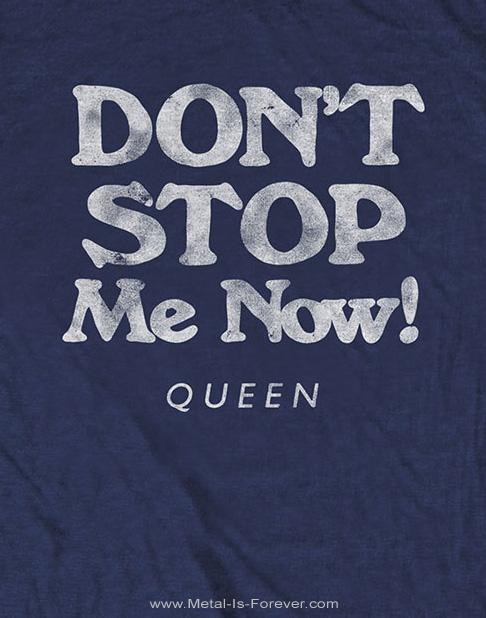 QUEEN (クイーン) DON'T STOP ME NOW 「ドント・ストップ・ミー・ナウ」 Tシャツ(ネイビー・ブルー)