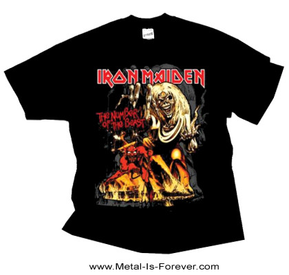 IRON MAIDEN -アイアン・メイデン- THE NUMBER OF THE BEAST 「魔力の刻印」 グラフィック Tシャツ